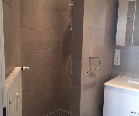 Sanierte Dusche im Badezimmer