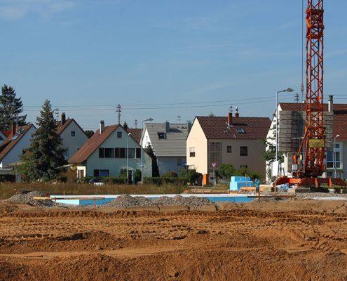 Baustelle am Stadtrand
